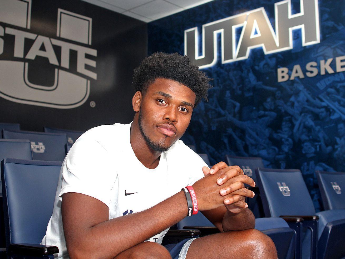 Guard RJ Eytle-Rock led UMBC in scoring last season at 14.3 points per game before transferring to Utah State.