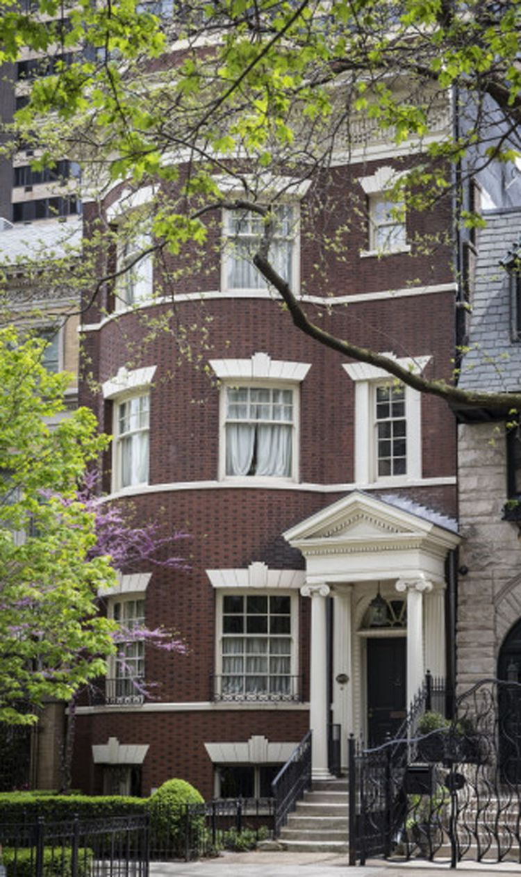 """J.B. Pritzker's $3.7 million mansion next door on North Astor Street on which he got $330,000 in tax breaks after asserting that it was """"uninhabitaable."""" As proof, his lawyers submitted photos showing the toilets that were disconnected during a stalled remodeling."""