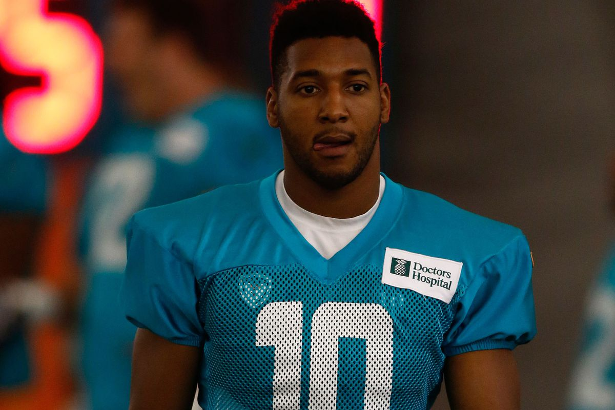 Brandon Gibson, now with the Miami Dolphins'