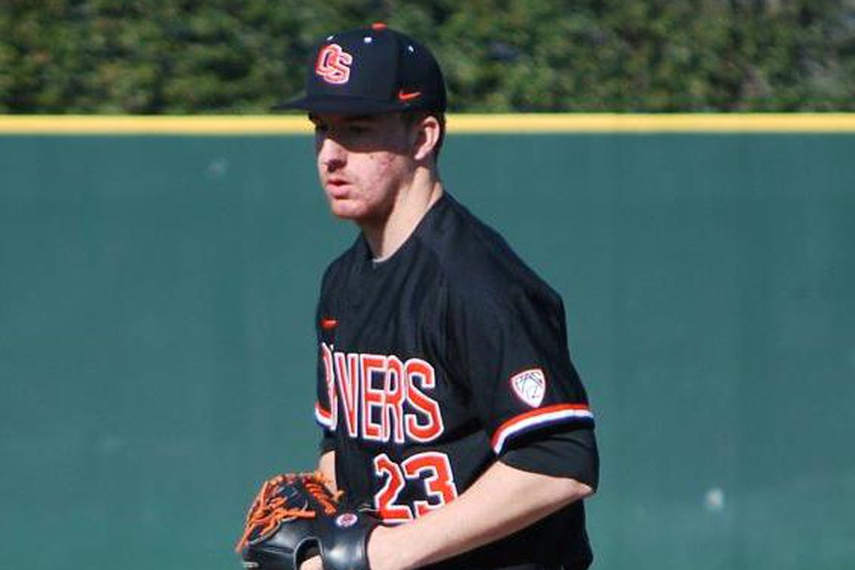 Andrew Moore was part of a great weekend effort by the Oregon St. pitching staff, which has the Beavers off to an 8-0 start for the first time since 1962.