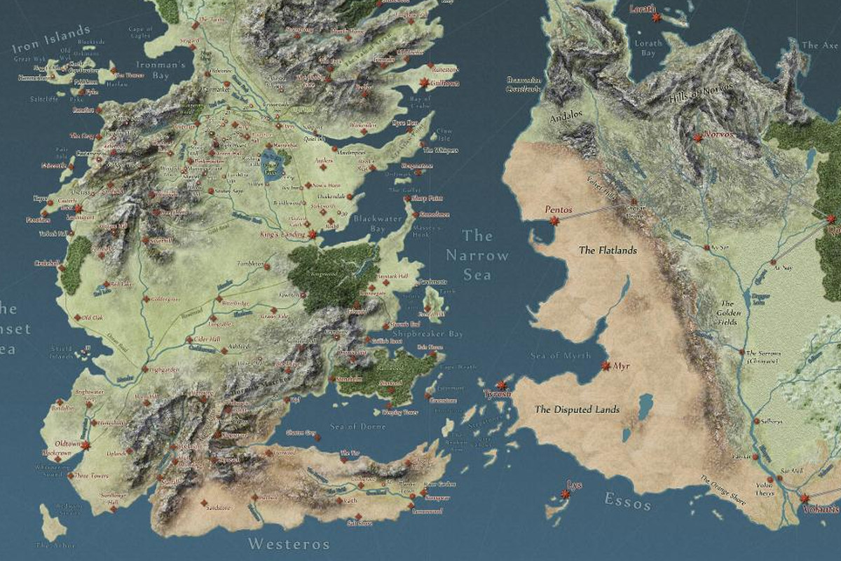 Interactive Game of Thrones map will make you an expert on Westeros ...