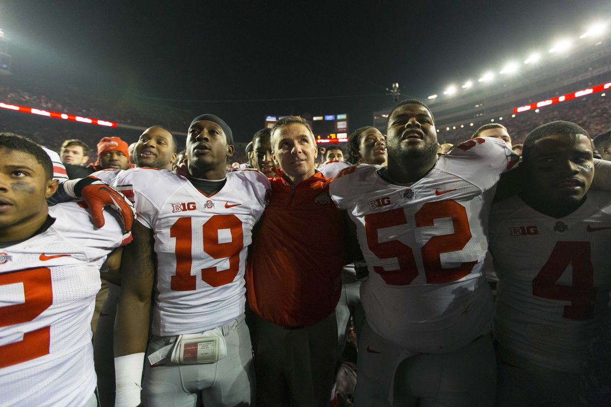 Meyer and the Buckeyes had much to celebrate Saturday night. Sunday afternoon? Not as much.