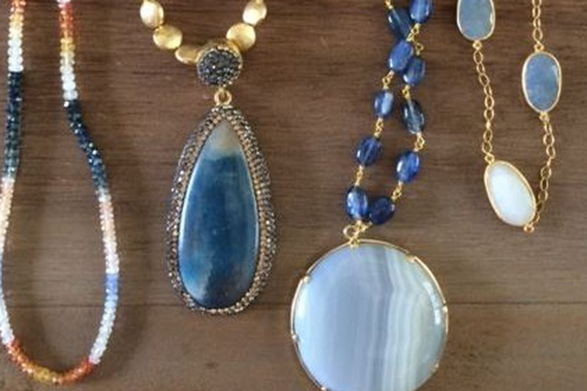 """Some pieces from Lawson's signature line of handmade jewelry. Image credit: <a href=""""https://www.facebook.com/pages/Menagerie/122593537837439?fref=photo"""">Menagerie/Facebook</a>"""
