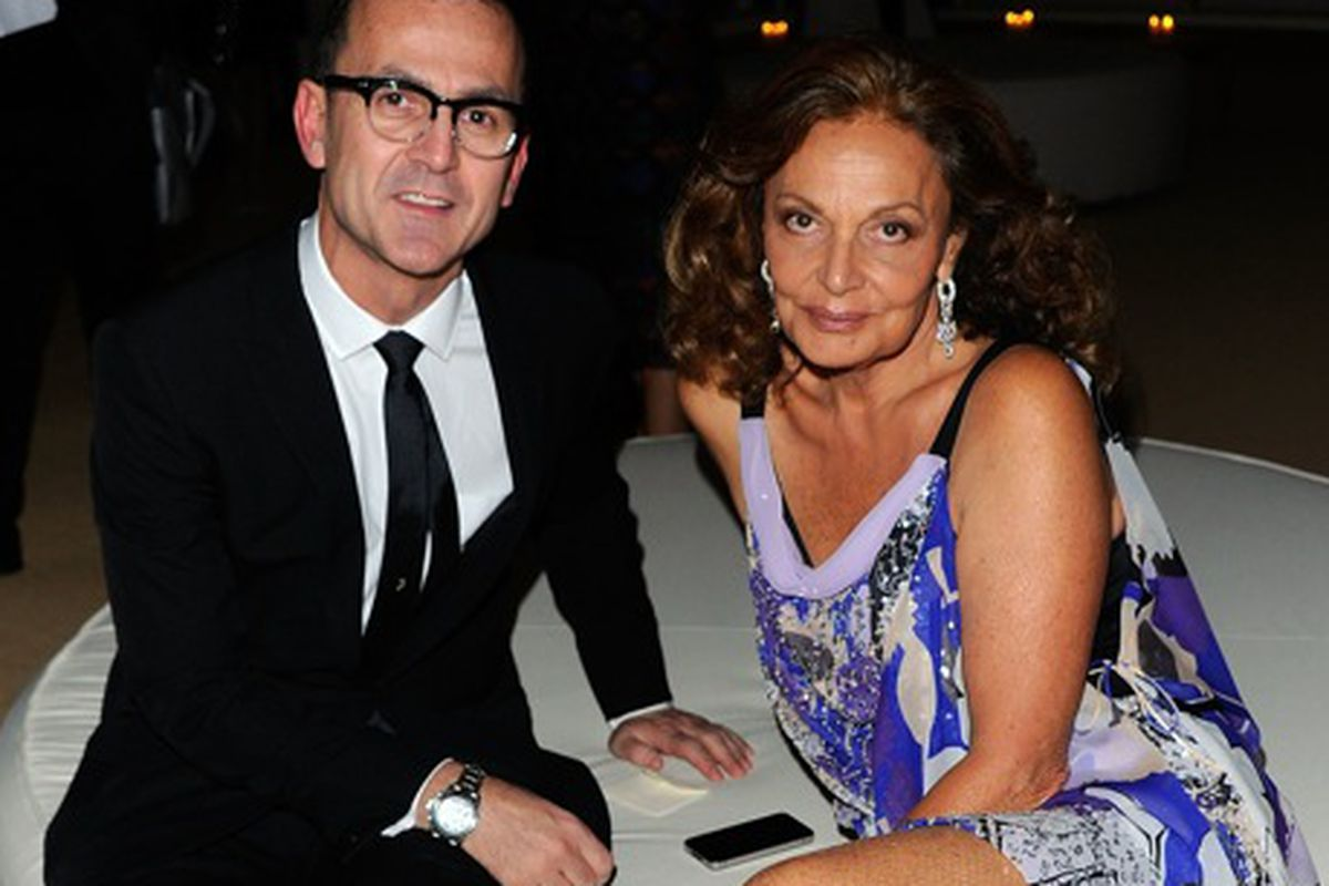 Steven Kolb and Diane von Furstenberg. Photo credit: Getty Images
