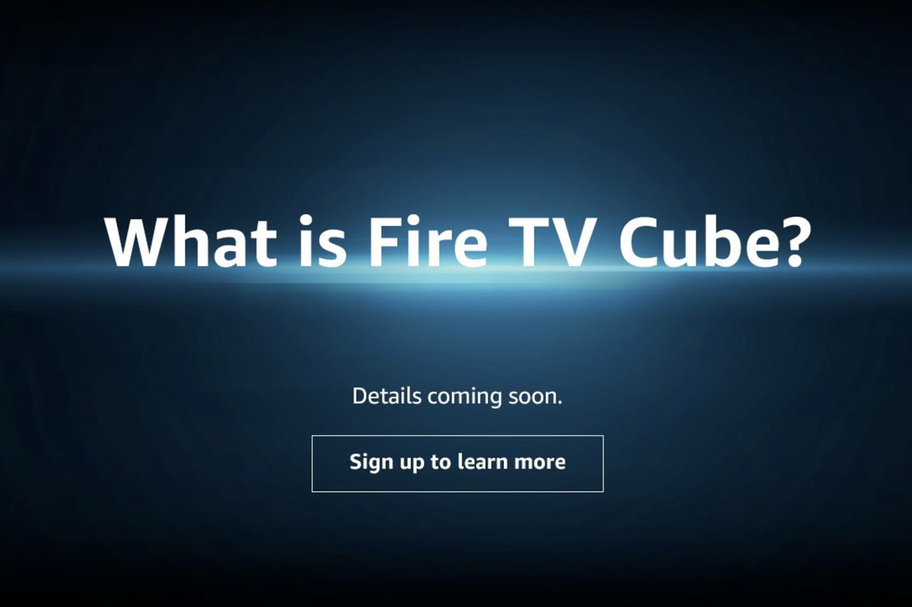 amazon teases upcoming fire tv cube