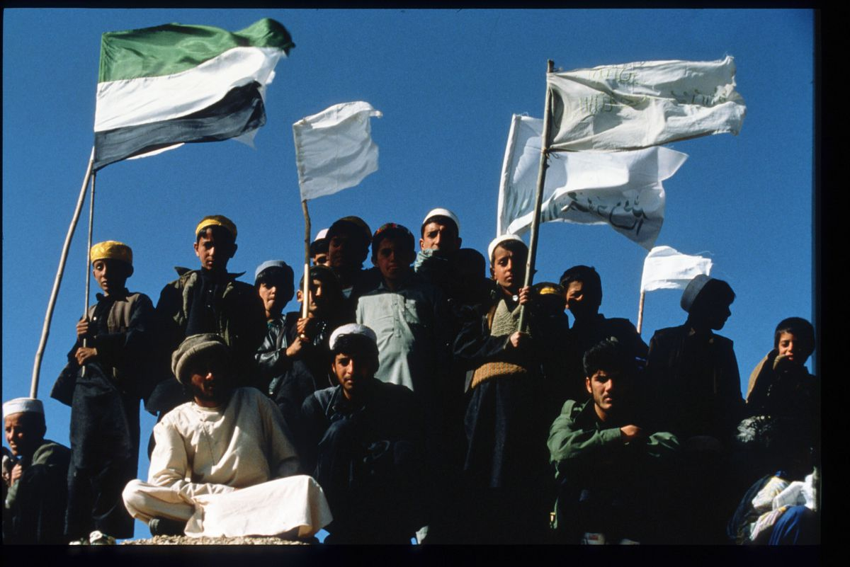 Afghan civil war peace demonstration