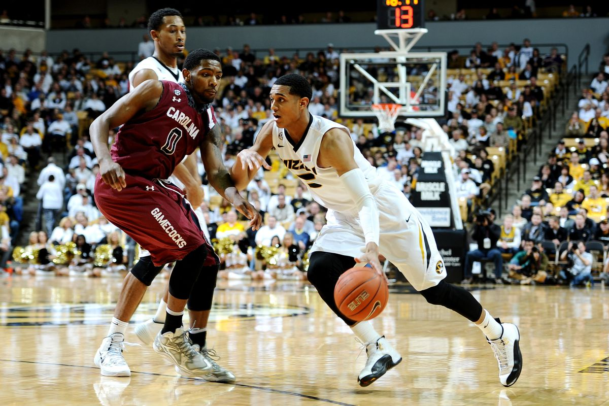 Jordan Clarkson gets past the defense on his way to the basket and an 82-74 win for Missouri.