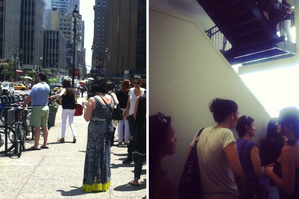 The line outside and inside