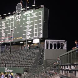10:21 p.m. The right-field porch (on the right) -
