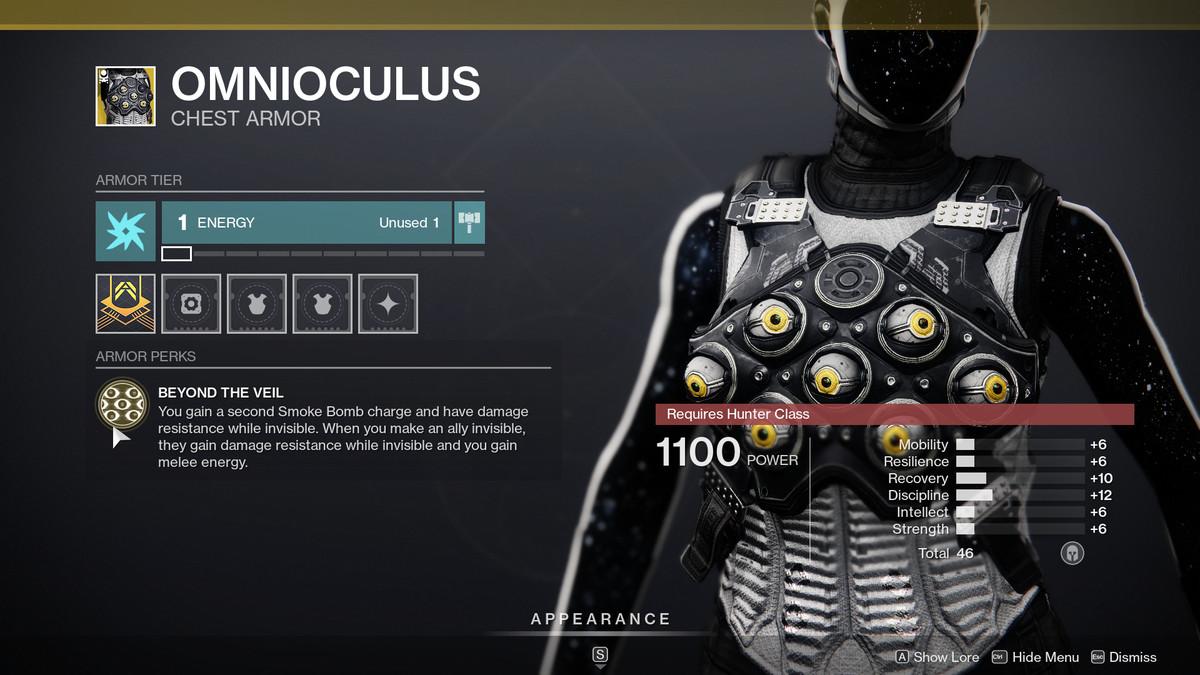 Description de la saison des élus d'Omnioculus Destiny 2