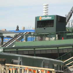 TV camera booth in center field -