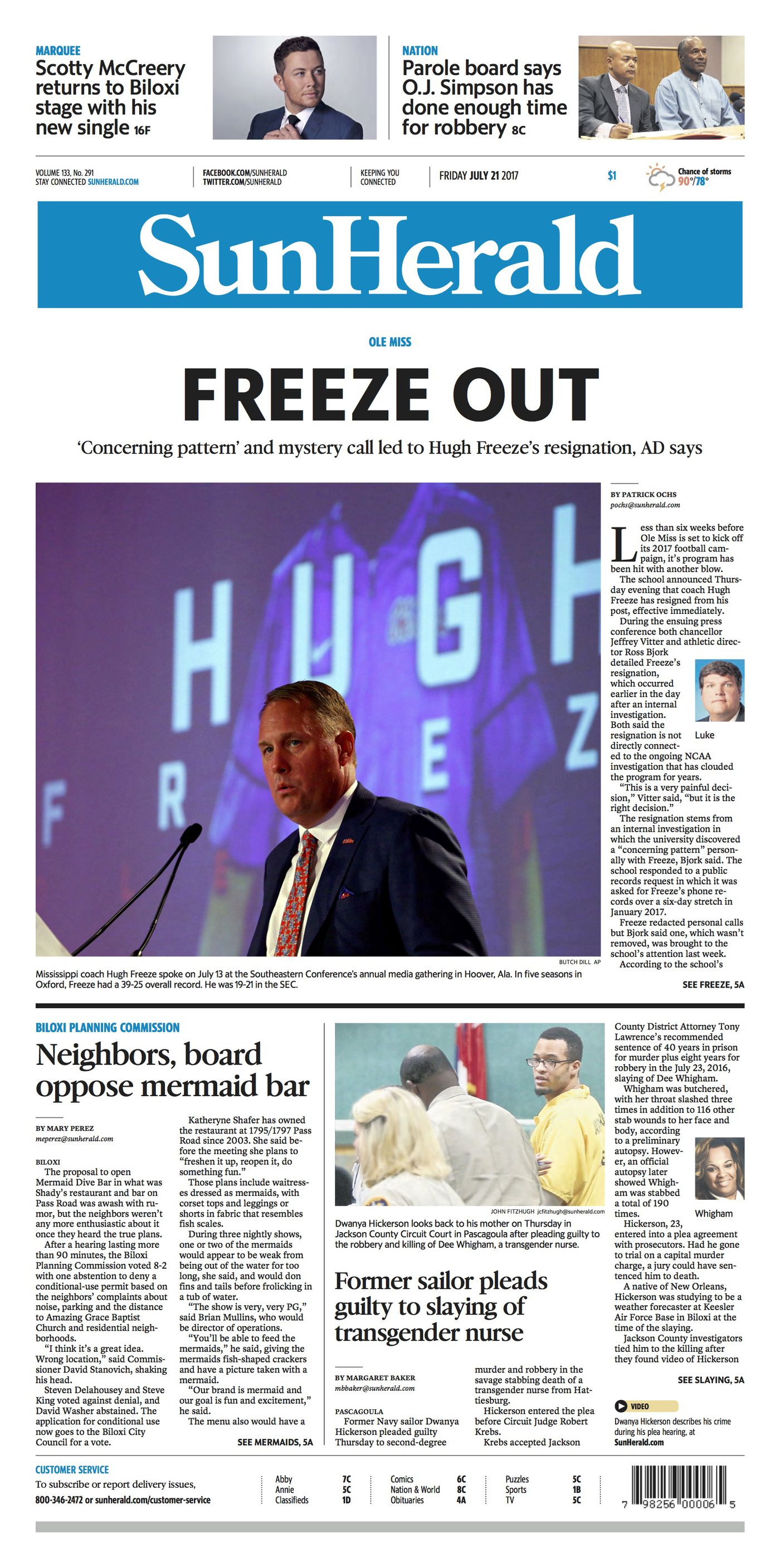 4 front pages from Hugh Freeze's Ole Miss ouster, ranked by