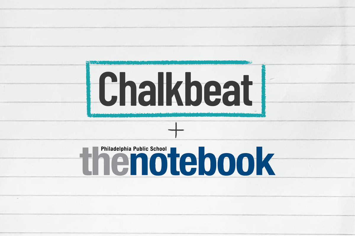 Chalkbeat logo and The Notebook logo