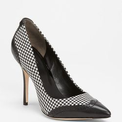 """<a href=""""http://shop.nordstrom.com/s/rachel-roy-ana-pump/3367665""""><strong>The Ana Pump</a> ($225):</strong> """"I keep a spare pair of these at my desk. Pointy heels, pointy toe, super classic, goes with everything. I like mixing patterns and prints. So for"""