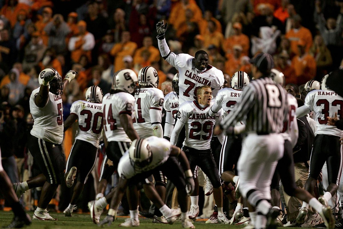 Gamecocks basically had this same feeling after beating Tennessee in '92
