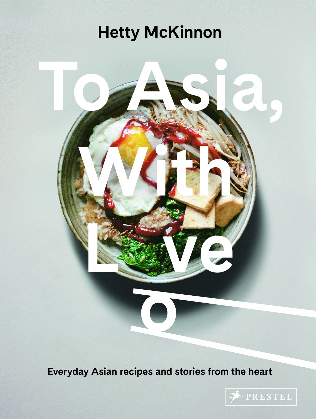 The cover of To Asia With Love featuring a bowl of food topped with an egg