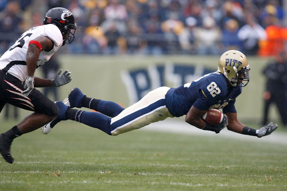 Jon Baldwin was one of the best Pitt wideouts in recent memory (Photo by Jared Wickerham/Getty Images)