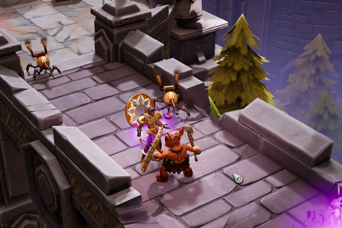 An isometric-view gameplay screen in Torchlight 3