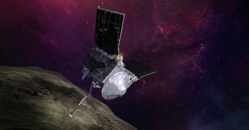 NASA's OSIRIS-REx spacecraft successfully taps an asteroid in attempt to grab a sample thumbnail