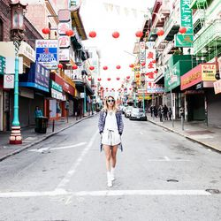 """Just insert fiancé here. The <strong>Chinatown</strong> backdrop is colorful and vibrant and really makes images pop. [Photo from Acrimony's <a href=""""http://blog.shopacrimony.com/post/82335554195/the-acrimony-ss14-womens-stylebook-is-live-check"""">S/S '14 L"""