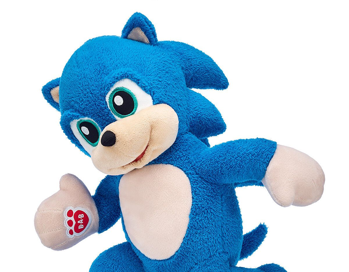 Build A Bear Sonic The Hedgehog Stuffed Animal Comes With Bare Feet Polygon