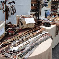 There's nothing better than customizable belts, and Vintage Belts offers an amazing variety from traditional leather to bright colors to bejeweled. The store also takes orders for custom, handmade pet collars inspired by the belts. [Photo via Vintage Belt