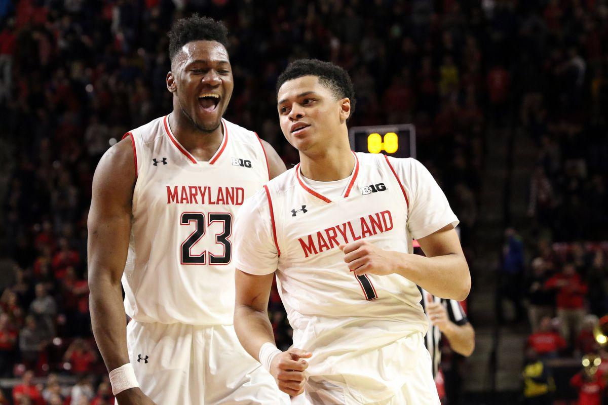 Maryland basketball Bruno Fernando and Anthony Cowan Jr. vs Indiana