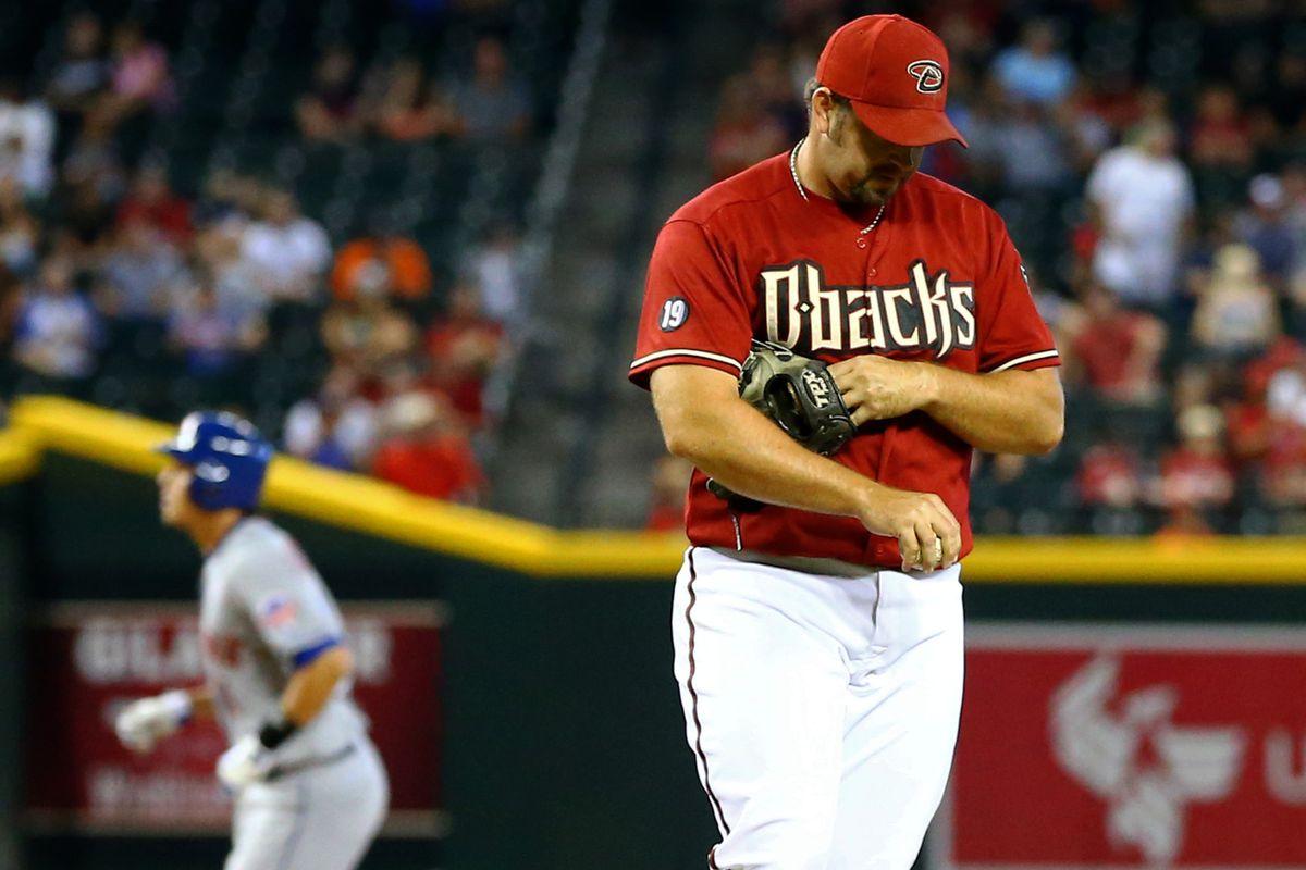 Heath Bell giving up a home run.