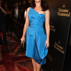 Why so blue, Kristin Davis?<br />Photo by Christopher Polk/Getty Images for Palladium Jewelry