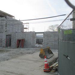 Sun 12/20: Media building from Seminary, closer view -