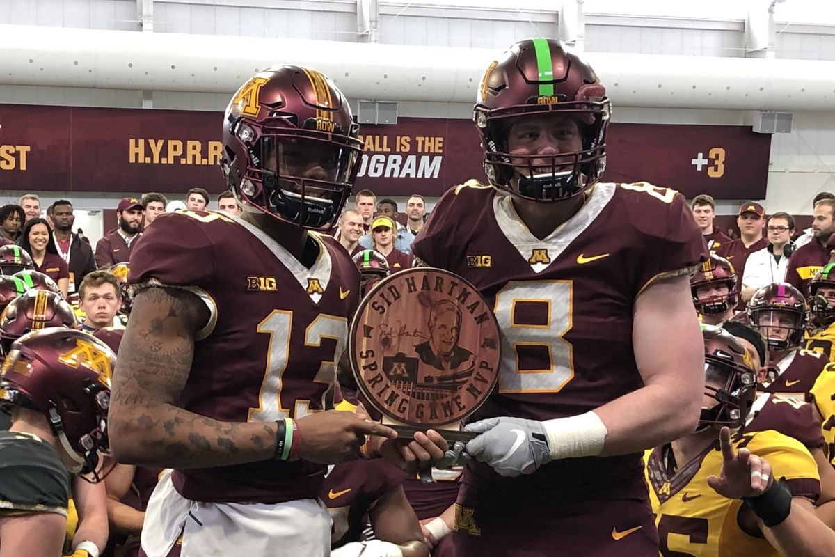 new style 876bd 63f8c Maroon Defeats Gold 38-20 in Minnesota Golden Gophers Spring ...