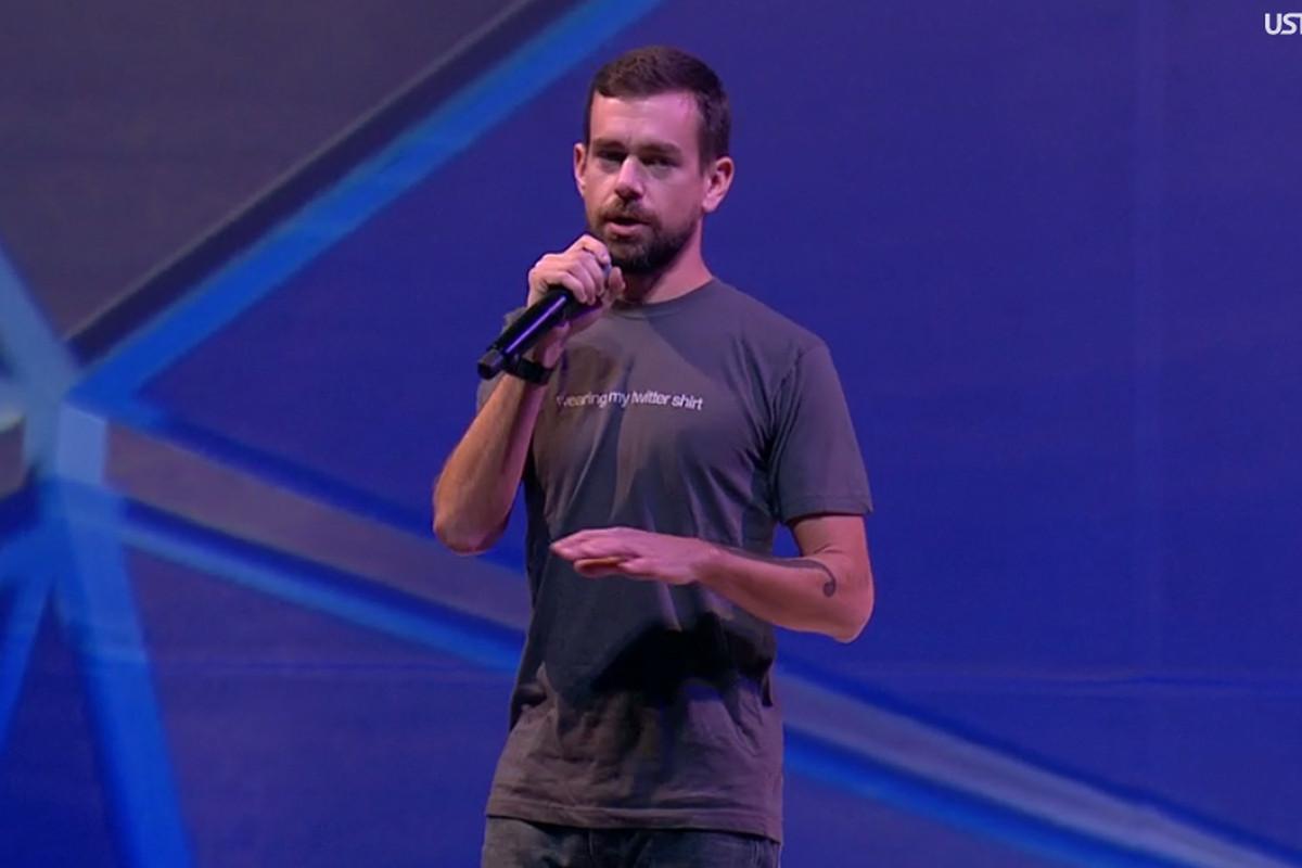 Twitter CEO Jack Dorsey onstage