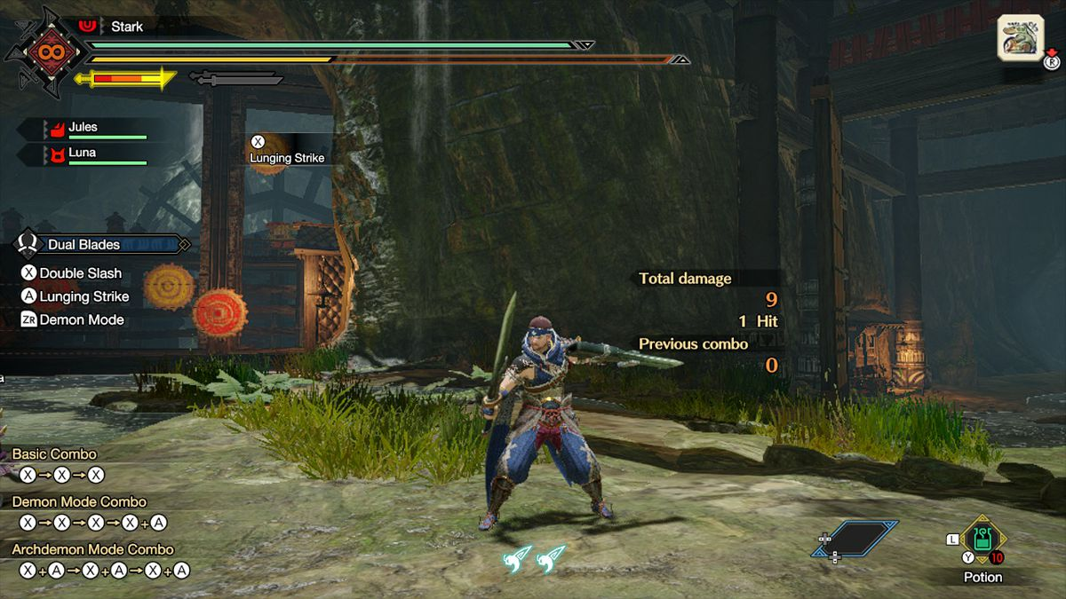 The dual blades from Monster Hunter Rise