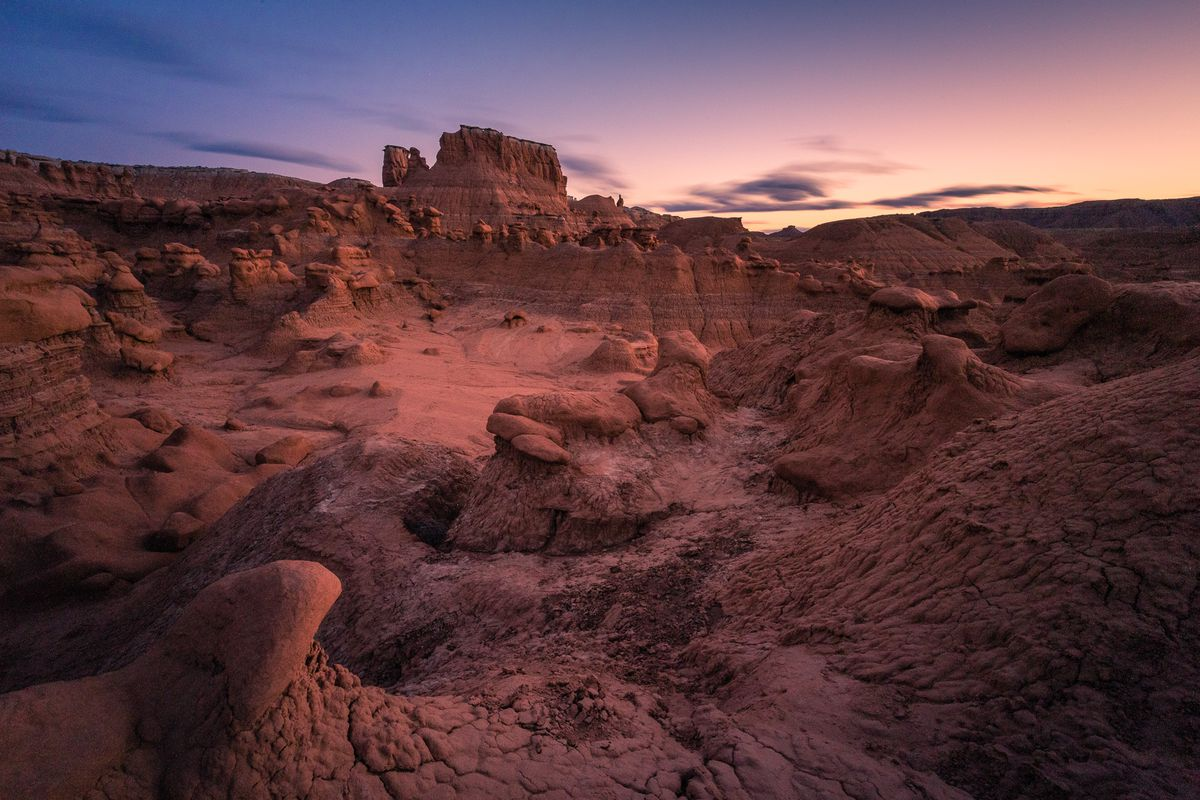 Goblin Valley is from within the current boundaries of Goblin Valley State Park in April, 2016.
