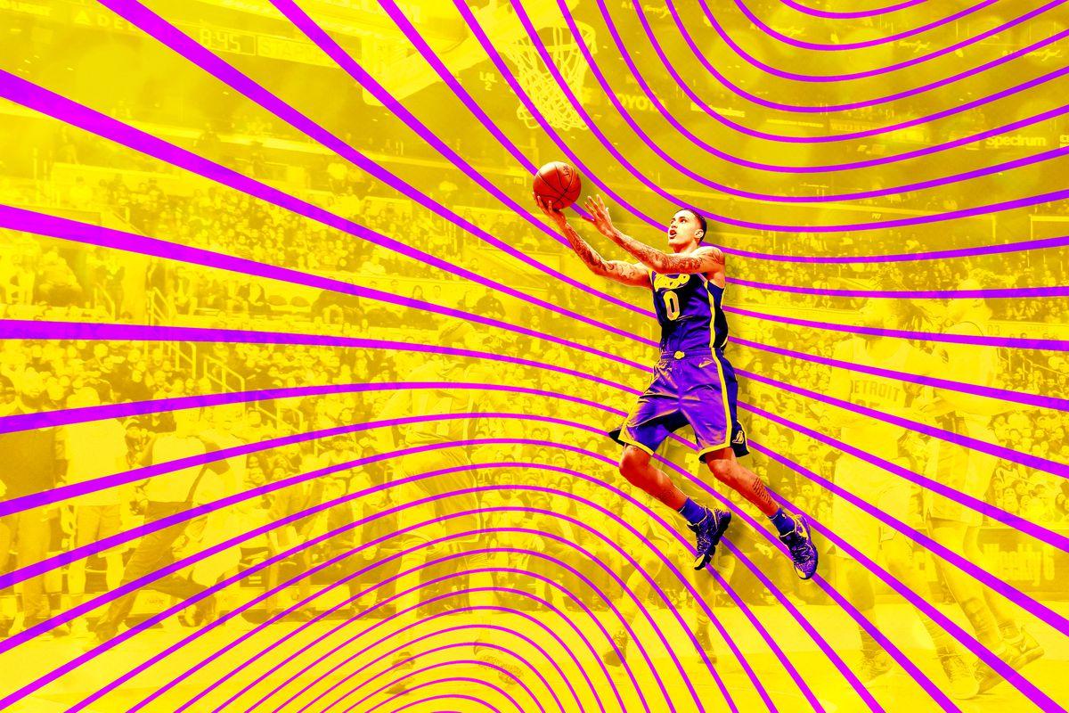 Kyle Kuzma shooting the basketball