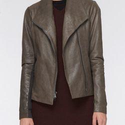 "<b>Vince</b> Leather Scuba Jacket, <a href=""http://www.vince.com/leather-scuba-jacket-/invt/vnv118590358/&bklist=icat,4,shop,women,wfeaturedstyles3"">$995</a>"