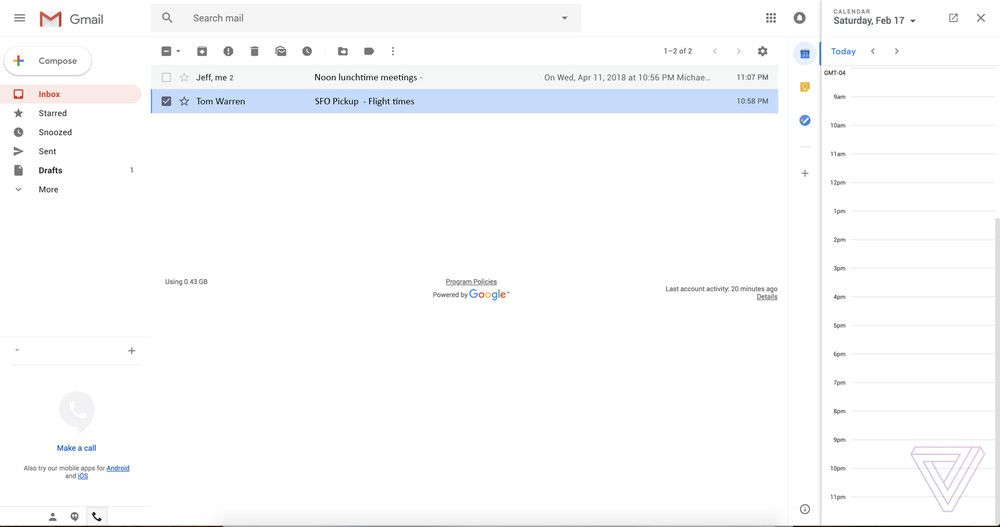 Google's new Gmail aims to hit Microsoft where it hurts