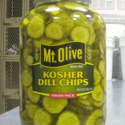 Forty of these gallon-size bottles each week is a lot of pickles.