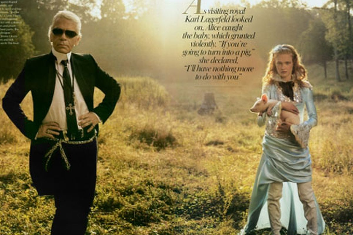 """Karl in Wonderland.  Photo via <a href=""""http://theenglishmuse.blogspot.com/2009/04/twitter-over-lagerfeld.html"""">English Muse</a>"""