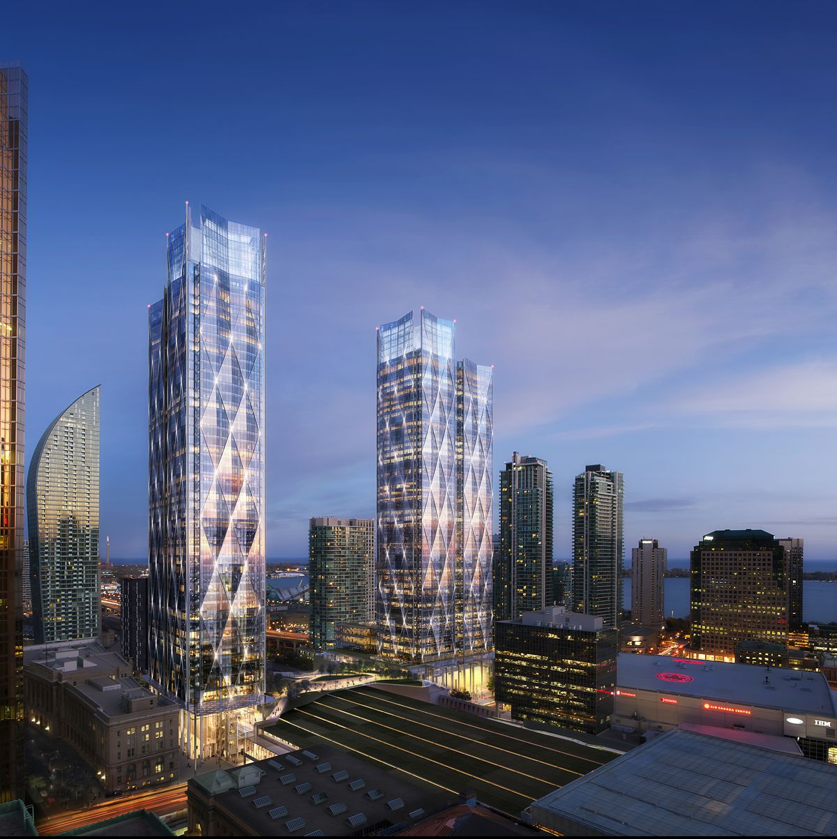 Bay Park Centre Towers in Toronto