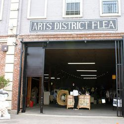 The entrance to the Arts District Flea.