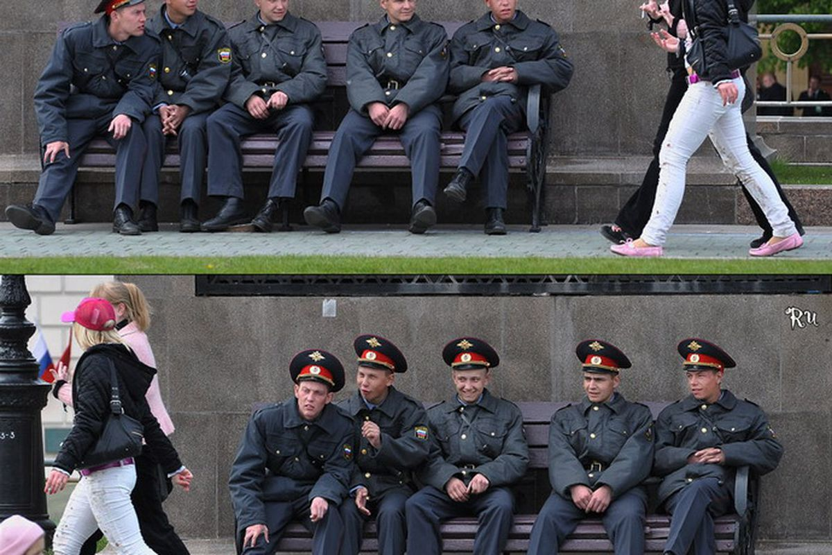 Russian police: as professional as their hockey players.