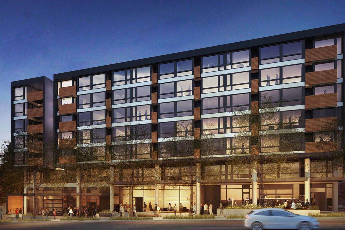 Portage Bay Cafe will be in the bottom left of the new Rooster Apartment complex