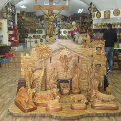 This nativity scene, created by and for sale at the Blessings Gift Shop, costs thousands of dollars.