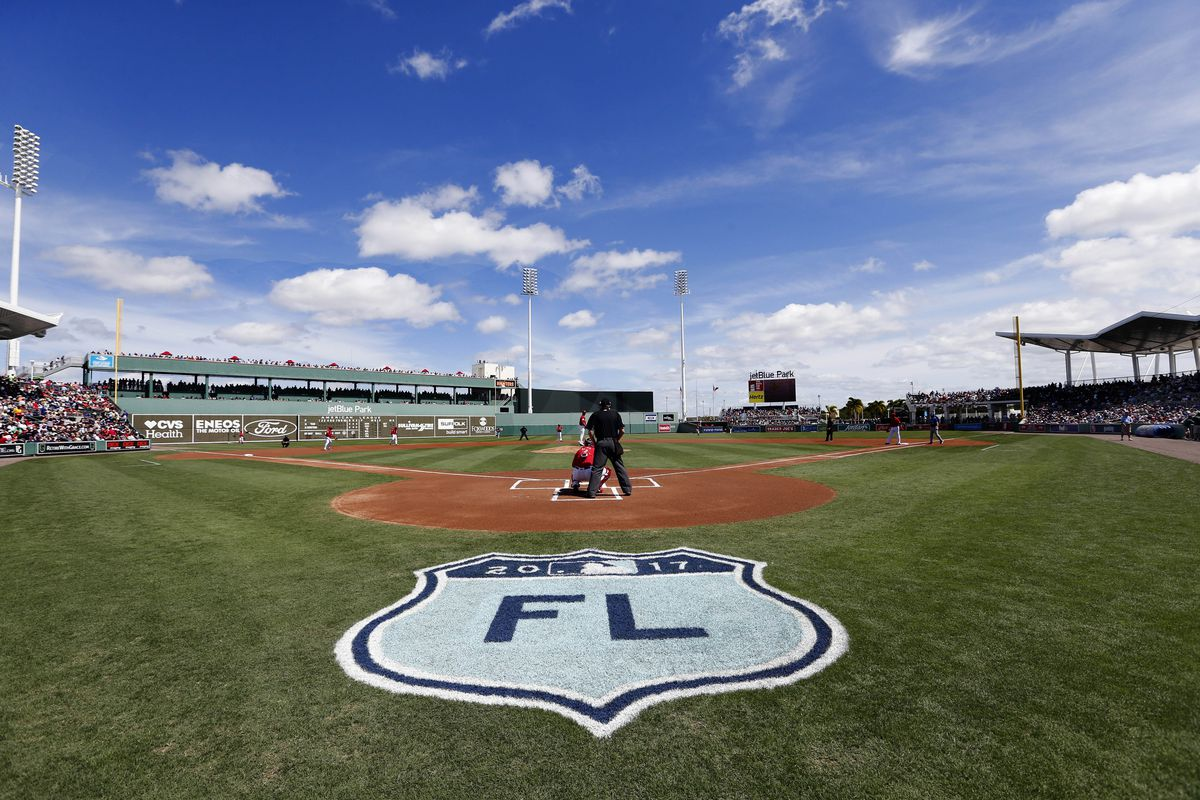 Mar 14, 2017; Fort Myers, FL, USA; A general view of  JetBlue Park before the game between the Boston Red Sox and Toronto Blue Jays. Mandatory Credit: Kim Klement-USA TODAY Sports
