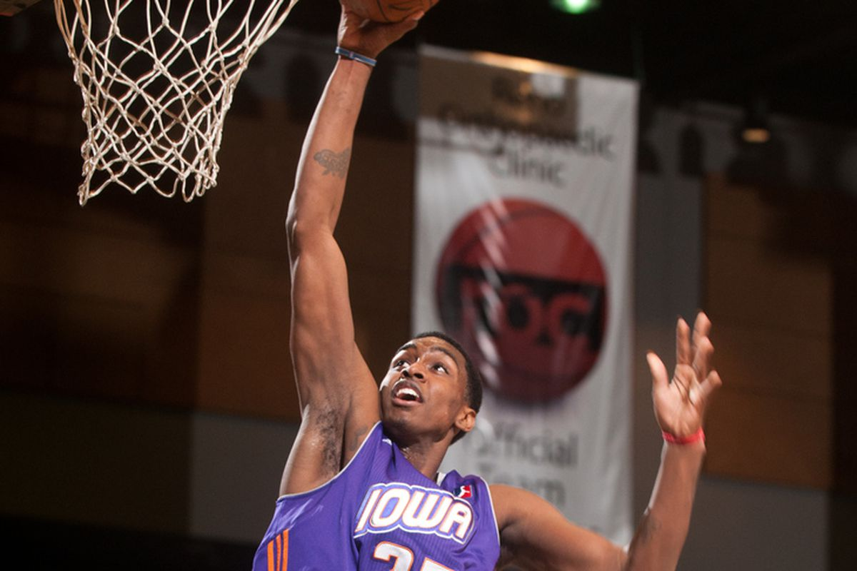 Quincy Miller with the Iowa Energy.