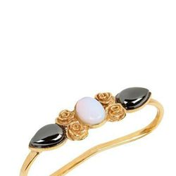 "<b>Leivankash</b> Haya Onyx & Opalite Hand Bracelet, <a href=""http://www.luisaviaroma.com/index.aspx#ItemSrv.ashx|SeasonId=58I&CollectionId=2TQ&ItemId=3&SeasonMemoCode=actual&GenderMemoCode=women&CategoryId=&SubLineId=fashion_jewellery&PID=2178999&AID=107"