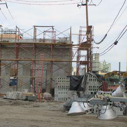 Sun 12/20: Media building, looking east down Waveland -