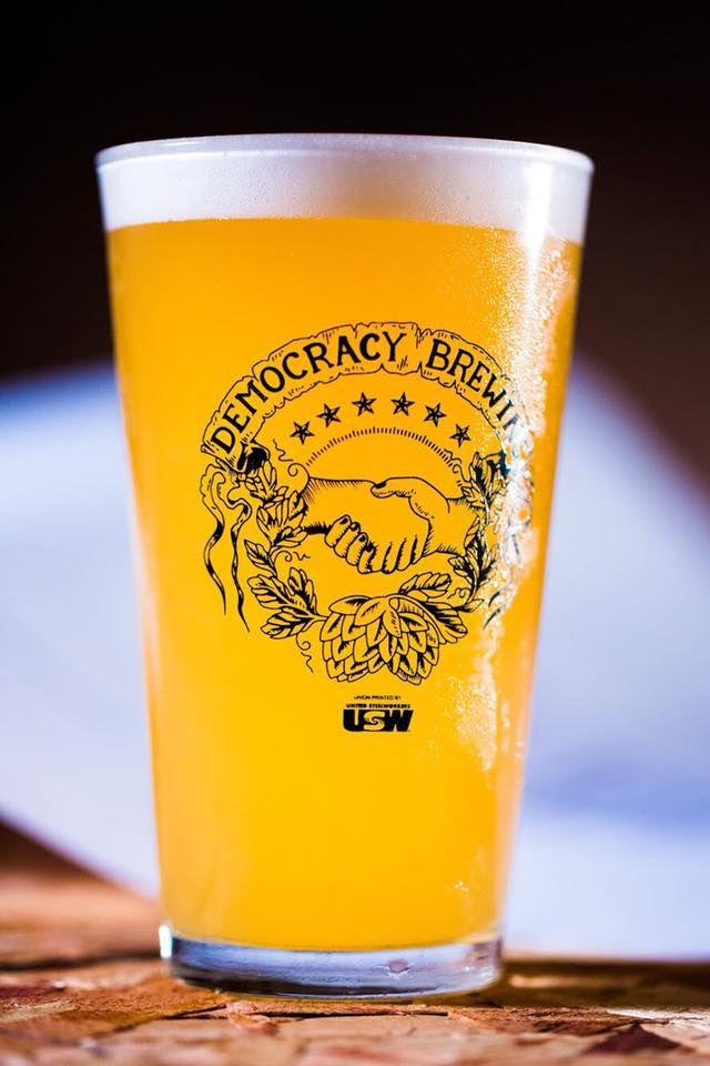 A Democracy Brewing beer