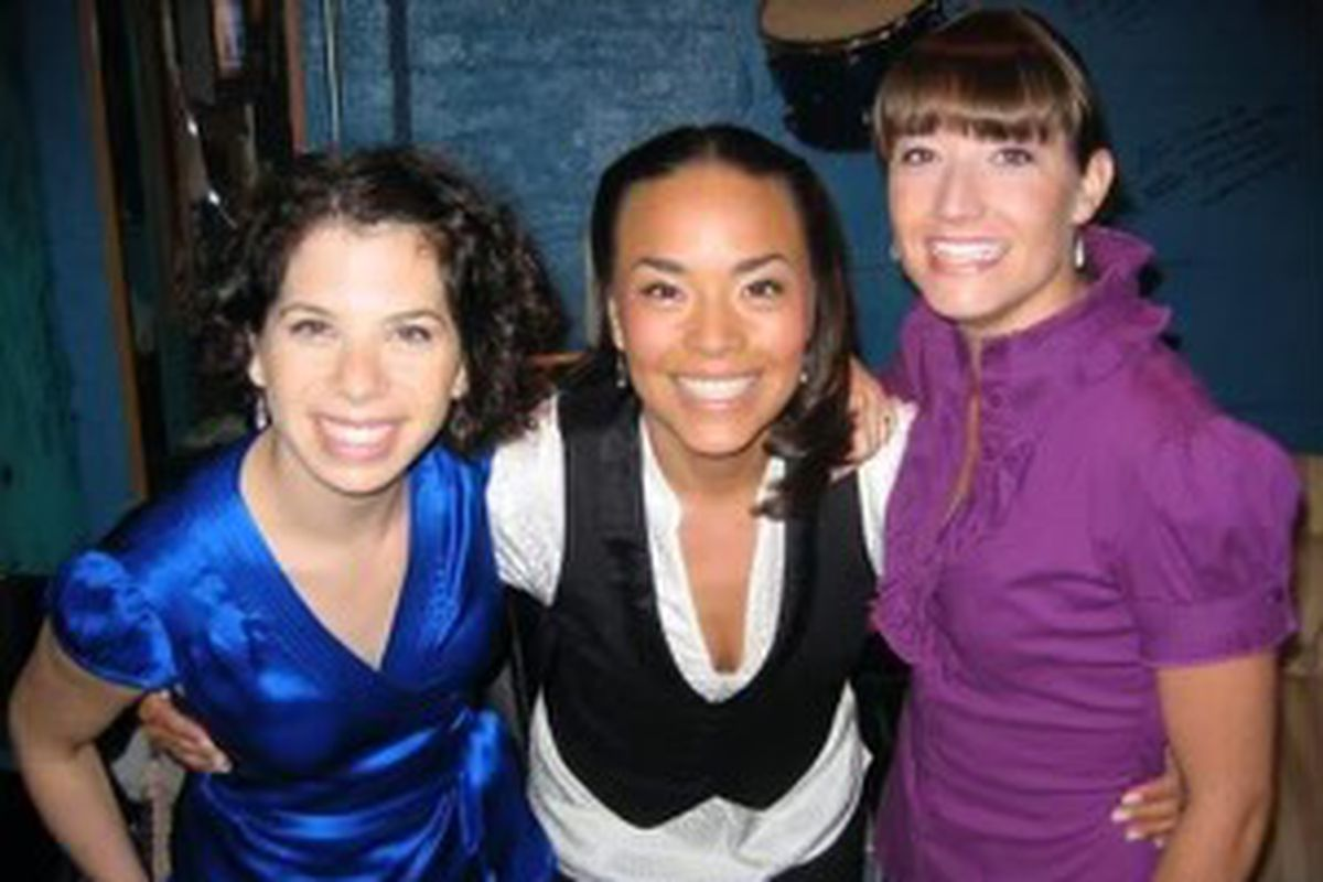 Niki Moran (middle) stands with her fellow Second City comedians Nicky Margolis (left) and Amanda Blake Davis (right). Moran performed with The Second City between 2002 and 2008.